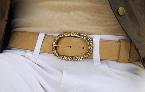 gold snakeskin belt buckle