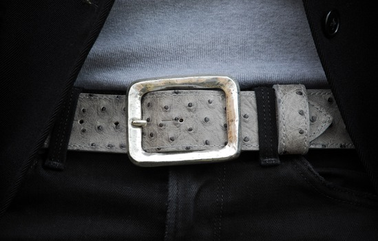 silver square belt buckle