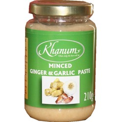 Khanum Minced Garlic & Ginger   210g