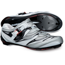 Shimano R133 SPD-SL shoes, white / black