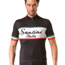 Santini Italy Short Sleeve Black