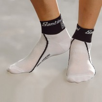 SP651SKNMERYL - Santini 365 Socks White/Black Medium/Large