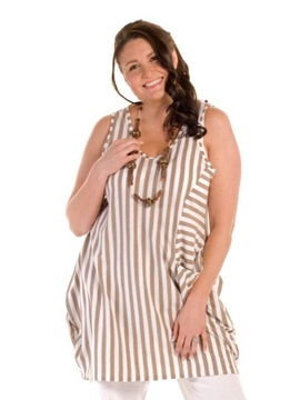 Beige Striped Tunic