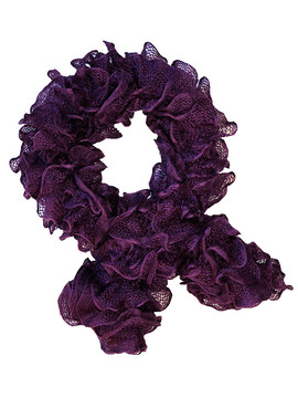 Blackcurrant Ruffle Scarf