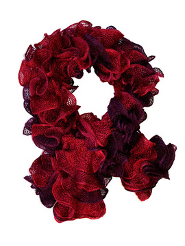 Mulled Wine Ruffle Scarf