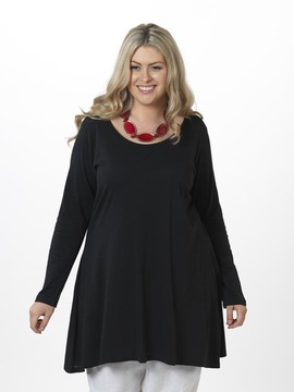 Plain Black A Line Tunic