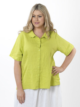 Flax Lime Green Blouse