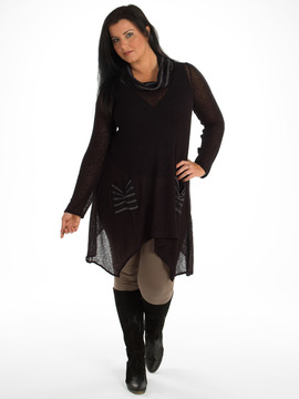 Black and Silver Sparkle Plus Size Tunic
