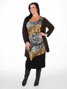 Q'neel Animal Print Dress