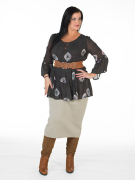 Ladies Brown Plus Sized Top