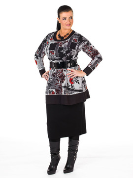 Red Poppy Flower Tunic