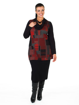 Red, Black and Grey Tunic