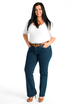 Ladies Plus Size Bootcut Jeans