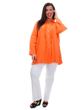 Ladies Orange Shirt