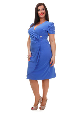 Blue Wrap Over Dress