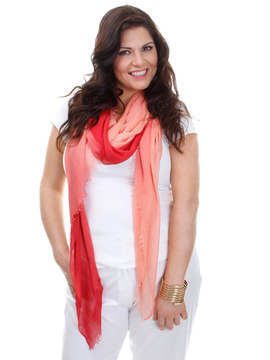 Fiorella Scarf - Strawberry & Pink