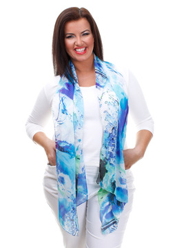 Lorenzo Scarf - Blue & Green