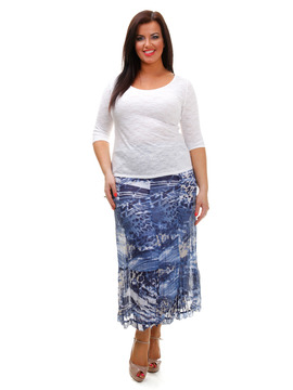 Gelco Shades of Blue Skirt