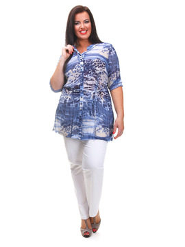 Gelco Shades of Blue Blouse