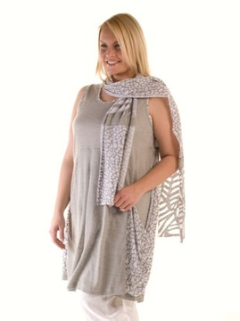 Grey & White Linen Tunic