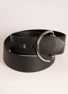 Black Leather Hook Belt