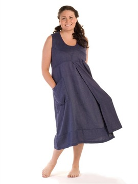 Blue Linen Dress