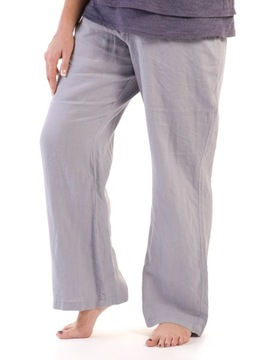 Silver Linen Trousers